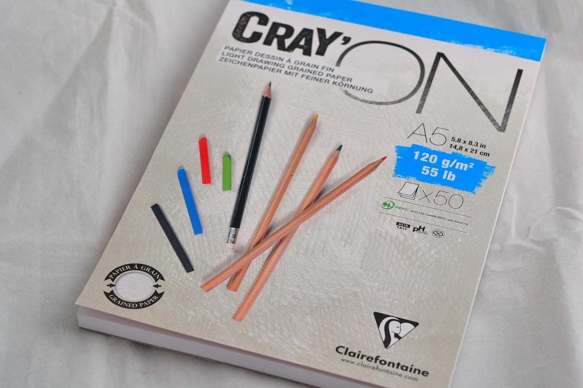 "Clairefontaine блокнот для зарисовок 50л А5 ""Gray'ON"" на склейке, 120г/м², мелкозернистая. ."