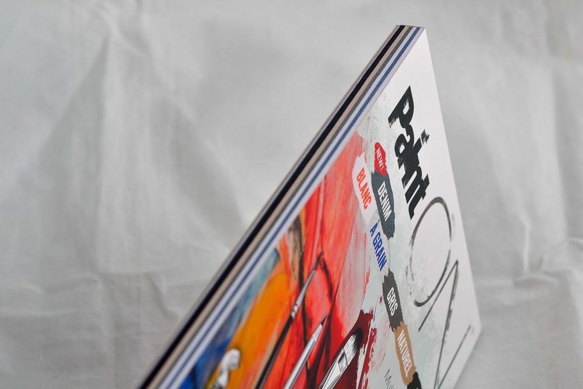 """Clairefontaine блокнот для смешанных техник 24л А5 """"Paint'ON"""" на склейке, 250г/м², 6 цветов."""