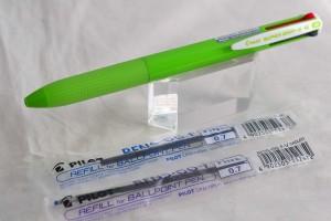 Pilot набор 4х цветная ручка + 2а стержня.