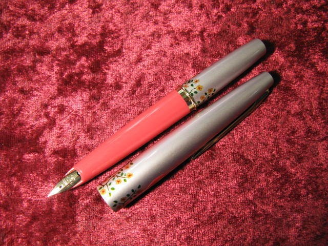 Pilot 1970s Flower - Pink Pocket Fountain Pen, 3set