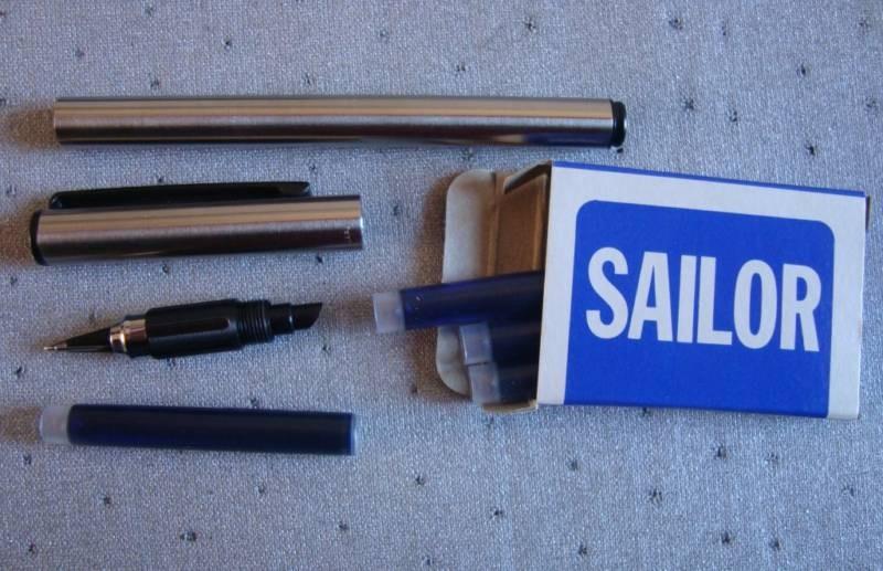 SAILOR Fountain Pen Trident (black finish) NOS