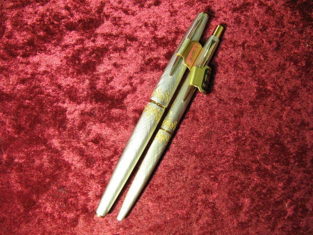 "Pilot 1970s ""Lady"" Cross Fiber Pink Fountain Pen, 2set"