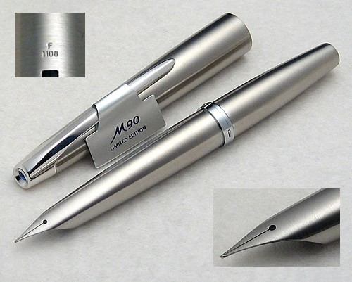 Pilot MYU 90 Limited Edition Steel Fountain Pen, Fine Nib