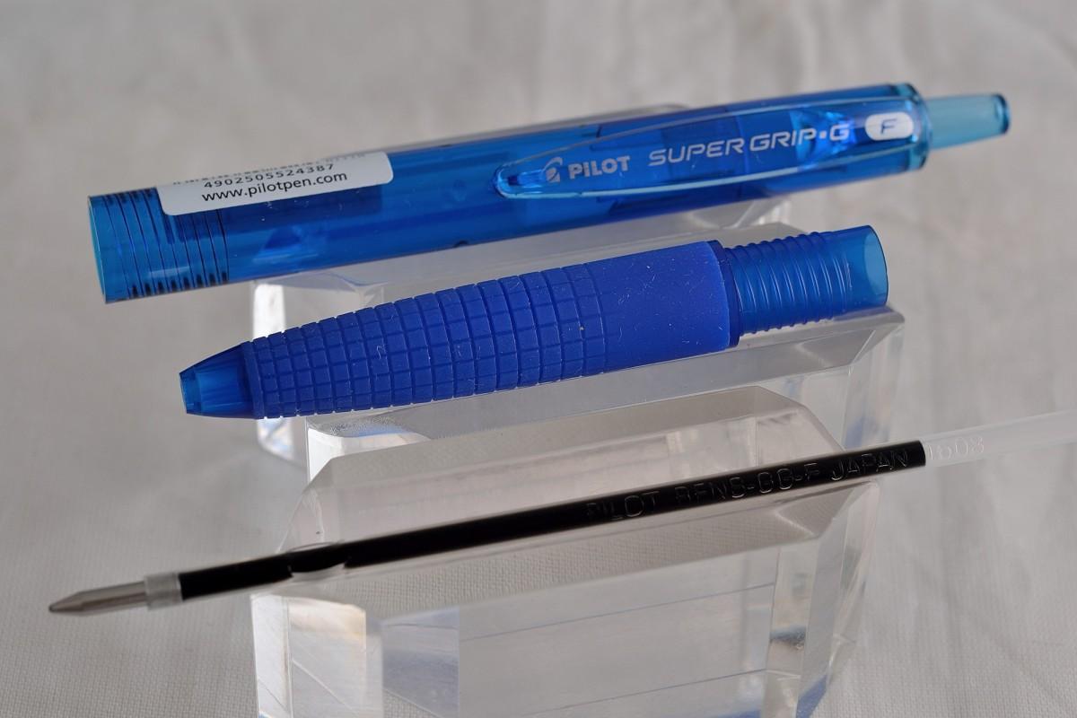 "Pilot шариковая ручка BPGG-8R-F-LL ""Super Grip"" синий."