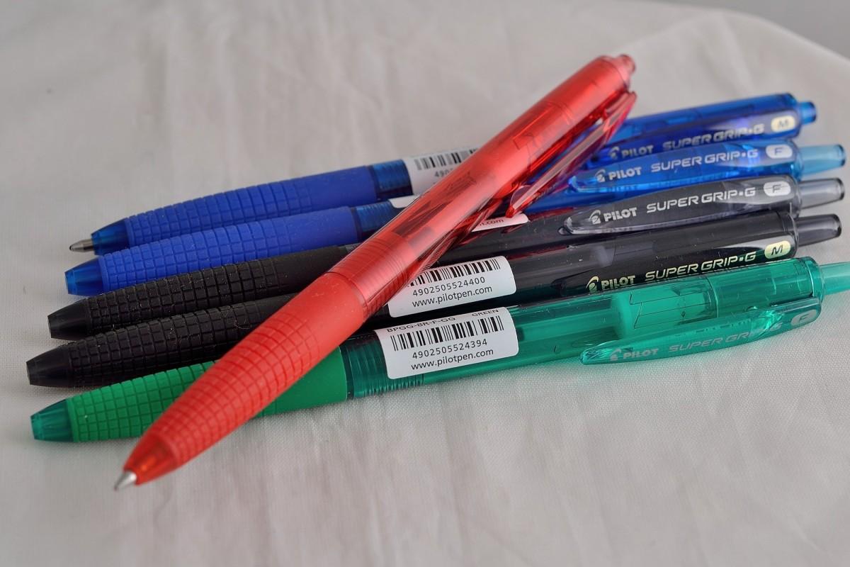 """Pilot шариковая ручка BPGG-8R-F-B """"Super Grip"""" чёрный."""