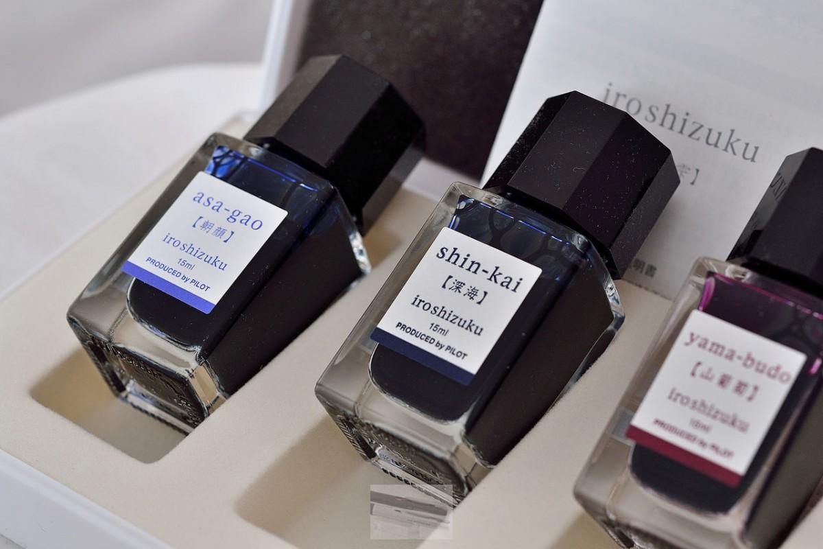 "Pilot Iroshizuku Ink набор из трех цветов ""YAMA-BYDO"",""SHIN-KAI"",""ASA-GAO"""