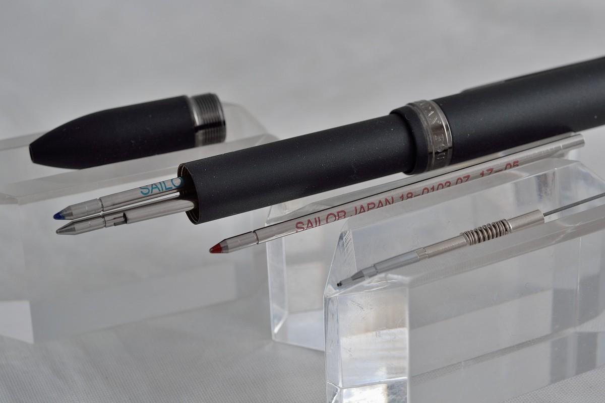 """Sailor шариковая ручка и механический карандаш (3+1) """"Luster""""."""