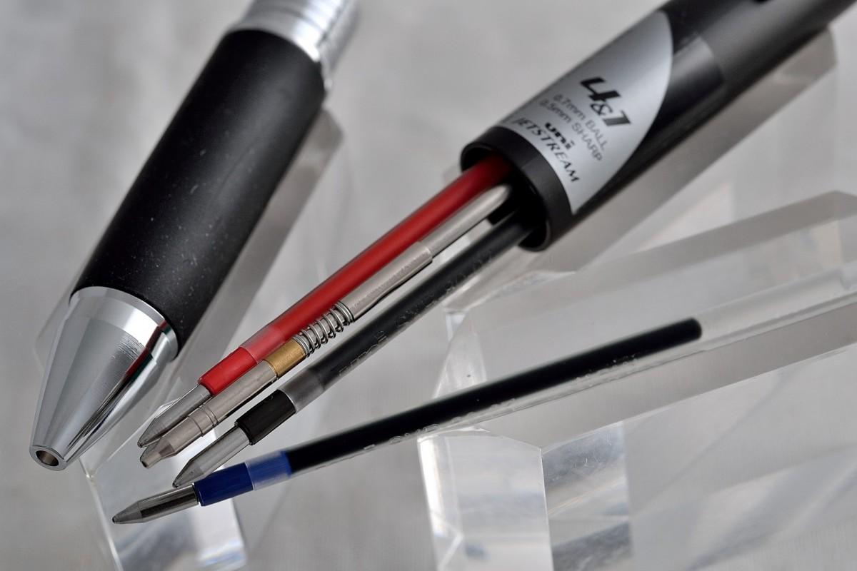 "Uni шариковая ручка и механический карандаш (4+1) MSXE5-1000-07 ""Jetstream""."