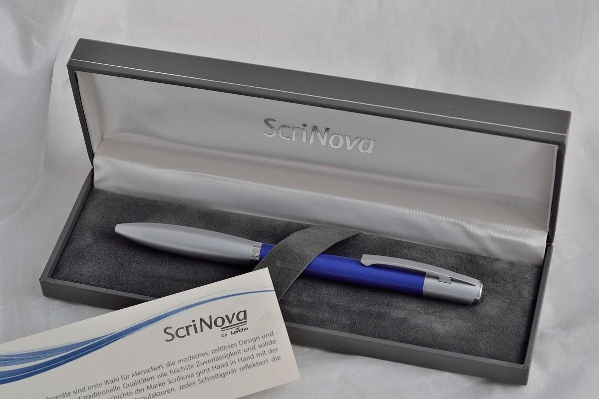 "Scrinova шариковая ручка ""Avanti Blue Сhromium""."