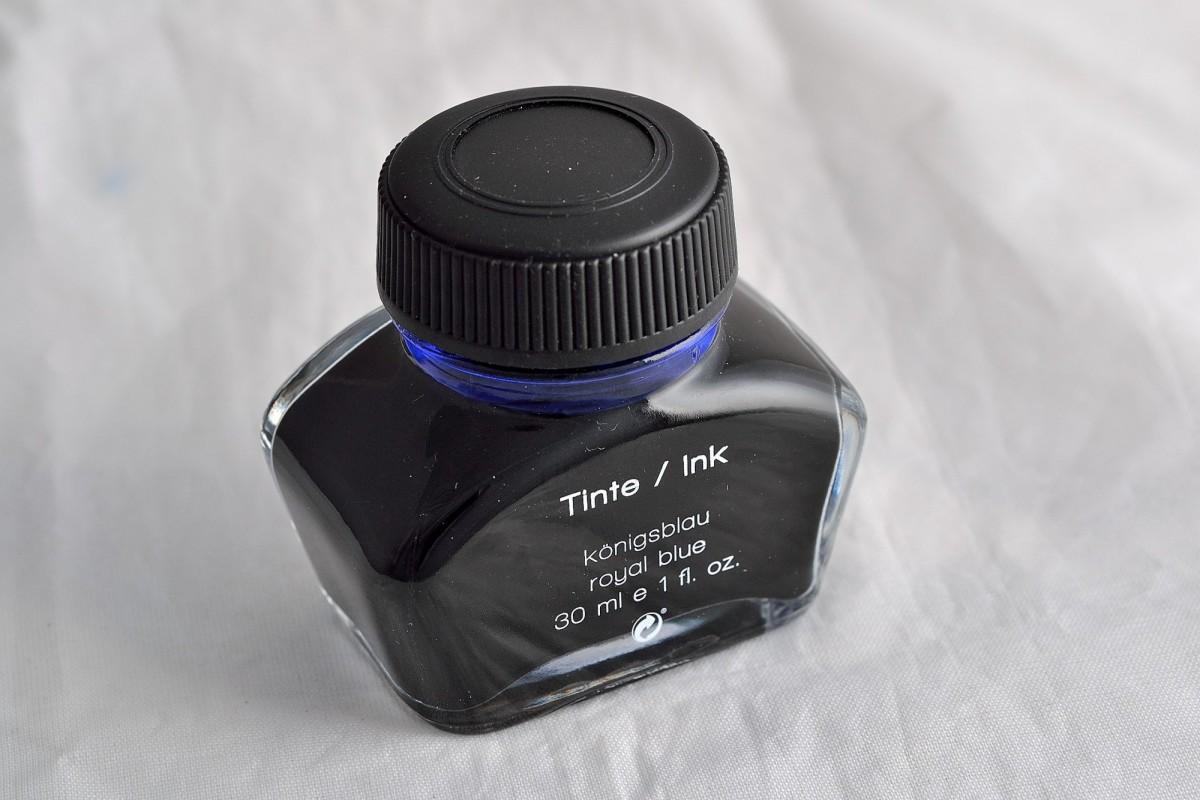 Diplomat чернила бутылированные 30 мл синий.