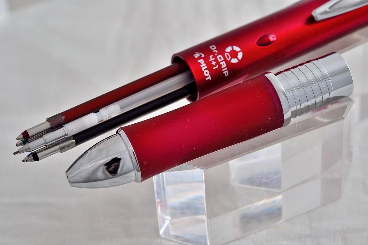 """Pilot шариковая ручка и механический карандаш (4+1) BKHDF 1 SFN """"DR. GRIP""""."""