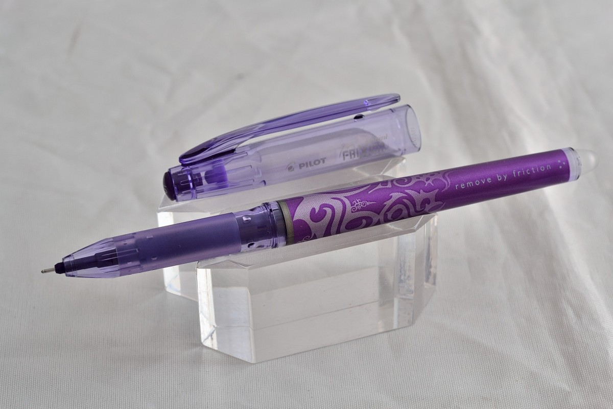 """Pilot ручка со стираемыми гелевыми чернилами BL-FRP-5-V """"Frixion point"""" фиолетовый."""