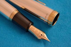 Sailor Fountain Pen.1911 Sterling Silver 925. 21kt MEDIUM nib