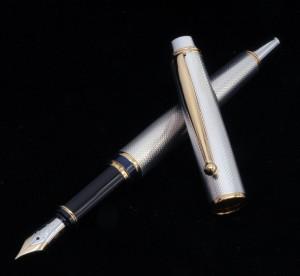PILOT Sterling Silver 925 M nib 18k Fountain Pen