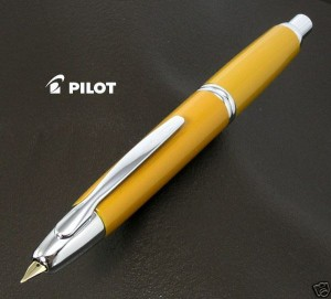 Pilot Vanishing Point Capless YELLOW F nib Fountain pen
