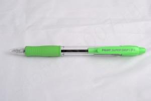 """Pilot шариковая ручка BPGP-10R-F-SG """"Super Grip"""" светло зелёный."""